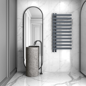 Grey Heated Towel Rails