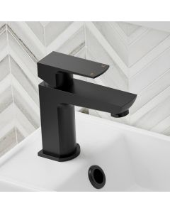 Soar Matt Black Cloakroom Basin Mixer Tap