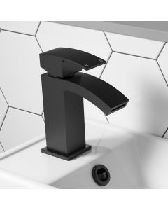 Welland Matt Black Cloakroom Basin Mixer Tap