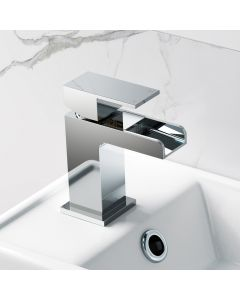 Avon Chrome Waterfall Cloakroom Basin Mixer Tap