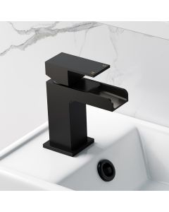 Avon Matt Black Waterfall Cloakroom Basin Mixer Tap