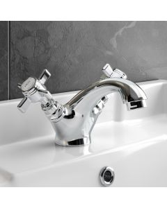Nene Traditional Chrome Basin Mixer Tap