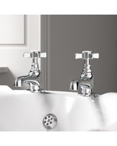 Nene Traditional Chrome Hot & Cold Bath Taps