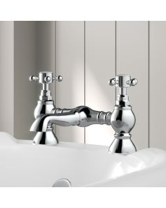 Thames Traditional Chrome Bath Filler