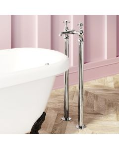 Sherbourne Traditional Chrome Freestanding Bath Mixer Tap