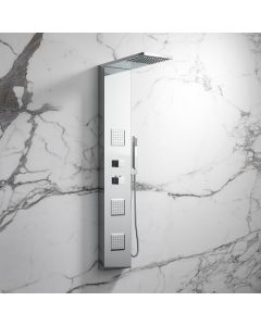 Galway Chrome Thermostatic Shower Panel with Body Jets