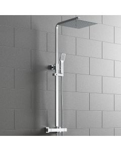 Galway Premium Square Thermostatic Shower with Large 300mm Head