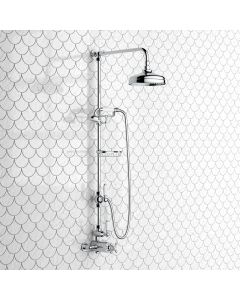 Shannon Traditional Thermostatic Shower Set with Hand Shower and Soap Dish