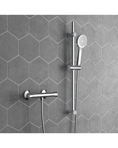 Lismore Round Thermostatic Shower Set With Multi-function Hand Shower