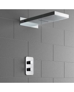 Galway Premium Chrome Square Thermostatic Waterfall Shower Set