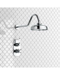 Shannon Premium Traditional Thermostatic Shower Set - 200mm Head