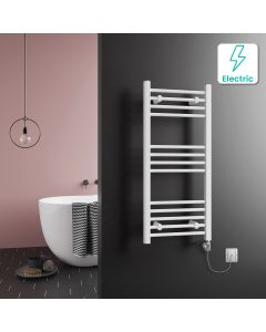 Barcelona Electric White Straight Heated Towel Rail 1000x450mm
