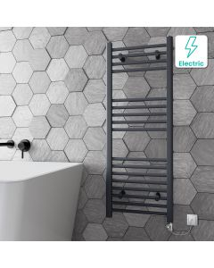 Barcelona Electric Anthracite Straight Heated Towel Rail 1200x450mm