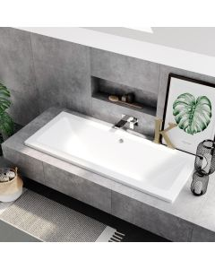 Durham 1700x750mm Square Double Ended Bath