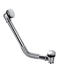 Chrome Flexible Exposed Click Clack Bath Waste with Overflow