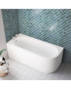 Oakham 1700mm Space Saving Bath - Left Handed