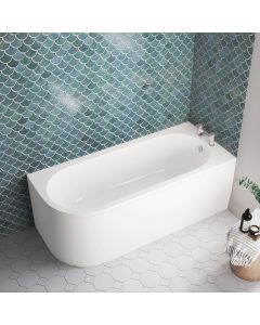 Oakham 1700mm Space Saving Bath - Right Handed
