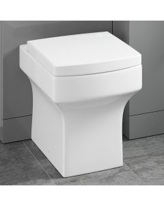 Portland Back To Wall Toilet With Premium Soft Close Seat