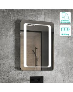 Arabella Battery Operated Illuminated LED Mirror 700x500mm