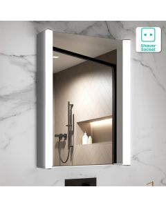Emilee Aluminium Illuminated LED Mirror Cabinet 700x500mm
