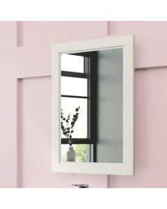 Chalk White Bathroom Mirror 700x500mm