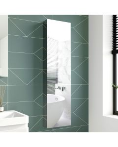 Elena tall Stainless Steel Mirror Cabinet 1200x300mm