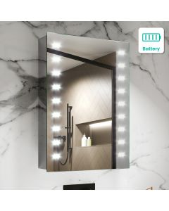 Madison Battery Operated Illuminated LED Mirror Cabinet 700x500mm