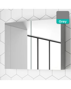 Pebble Grey Mirror Cabinet 800mm