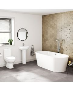 Seattle Basin & Toilet Set with 1700mm Freestanding Bath Suite