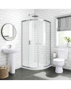 Austin Basin & Toilet Set with 800mm Quadrant Shower Enclosure & Acrylic Tray