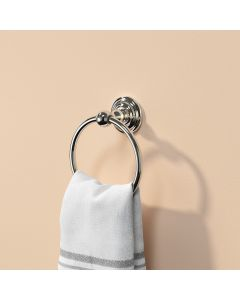 Eleanor Traditional Chrome Towel Ring