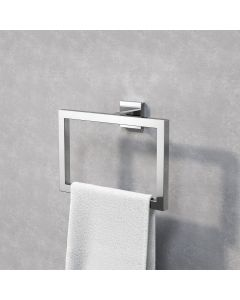 Isla chrome Square Towel Ring