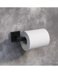 Isla Matt Black Square Toilet Roll Holder