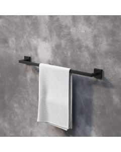 Isla Matt Black Square Single Towel Rail