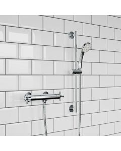 Crosshead Round Thermostatic Bar Shower Set