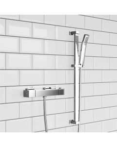 Square Thermostatic Bar Shower Set