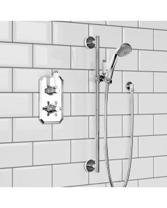 Essential Traditional Thermostatic Slider Hand Shower Set
