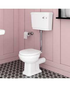 Hudson Traditional Toilet With Low-level Cistern And Soft Close Seat