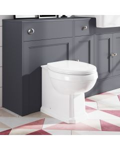 Hudson Traditional Back To Wall Toilet With Soft Close Seat