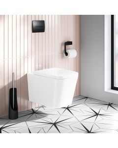 Nevada Rimless Wall Hung Toilet With Premium Soft Close Seat