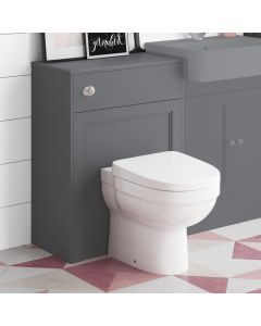 Traditional Slate Grey Back To Wall Unit and Seattle Toilet