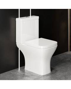 Atlanta Close Coupled Toilet With Soft Close Seat