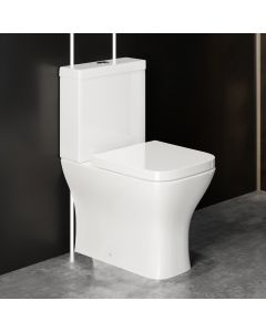 Atlanta Fully Back to Wall Close Coupled Toilet With Soft Close Seat