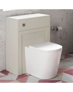 Traditional Chalk White Back To Wall Unit and Boston Toilet