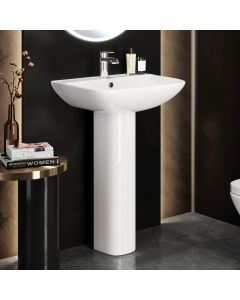 Atlanta Square Pedestal Basin 550mm