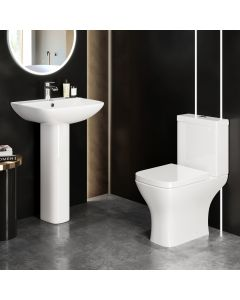 Atlanta Close Coupled Toilet & Pedestal Basin Set