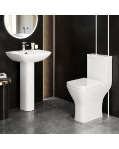 Atlanta Comfort Close Coupled Toilet & Pedestal Basin Set