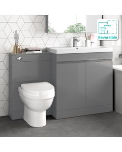 Trent Stone Grey Combination Vanity Basin and Seattle Toilet 1300mm