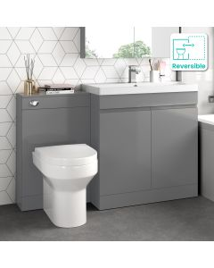 Trent Stone Grey Combination Vanity Basin and Denver Toilet 1300mm