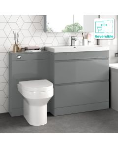 Trent Stone Grey Combination Basin Drawer and Denver Toilet 1300mm